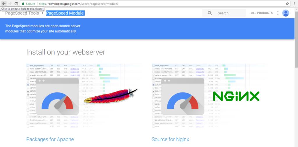 افزایش سرعت سایت با mod pagespeed