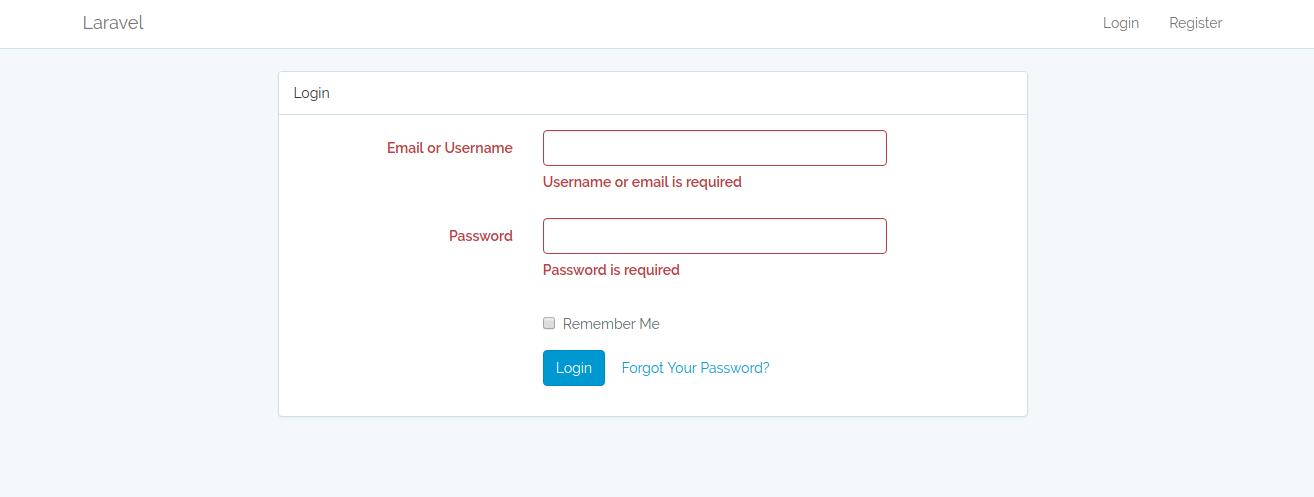 تغییر مسیر View های بخش کاربری در لاراول